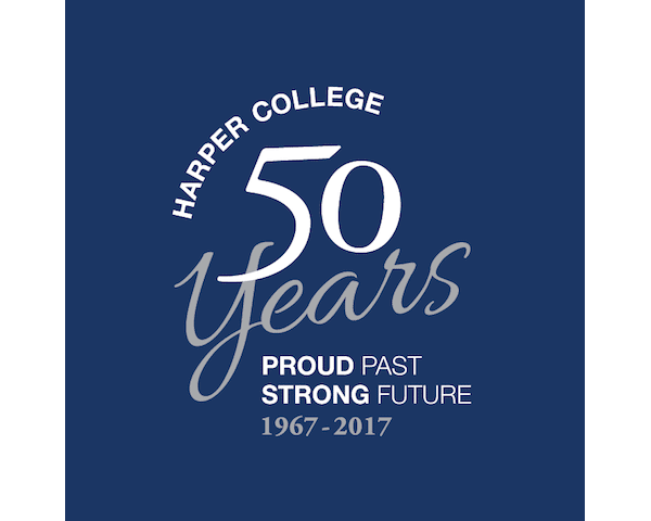 Harper College 50th Birthday Logo