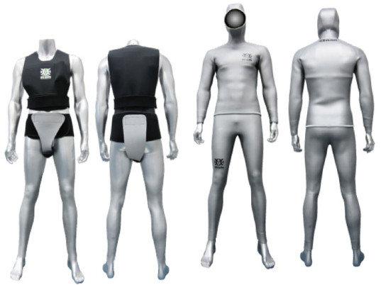 Traje seco con ropa interior anti radiactiva
