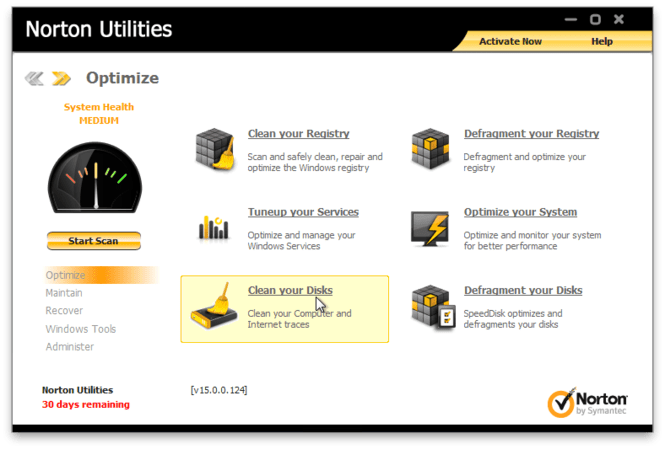 Norton Utilities Screenshot