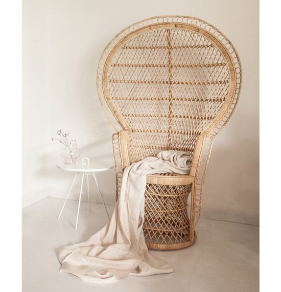 Rattan is back  How to weave wicker into your home decor Rattan revival  Peacock chair