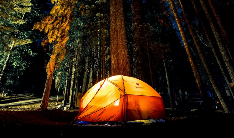 Camping an anniversary date ideas
