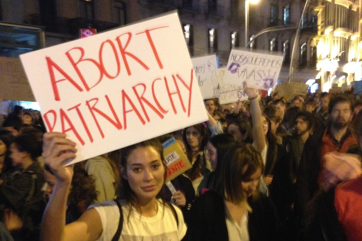 Image result for liberals with anti patriarchy signs