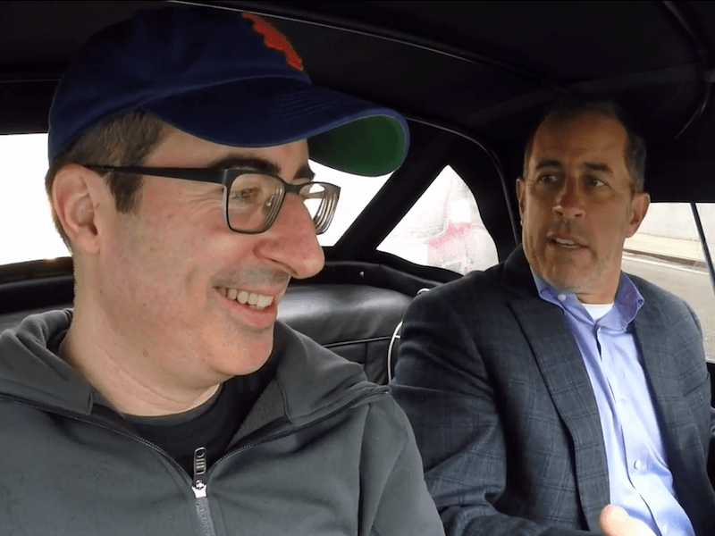 Jerry Seinfeld, John Oliver, and a Triumph TR3