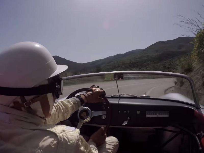 Vintage Porsche. Derek Bell. Sicily.