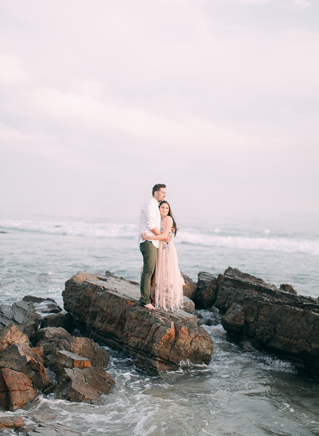 Blush Beach Engagement Photos Inspired By This