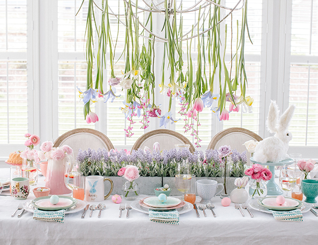 Setting A Whimsical Pastel Easter Brunch Table