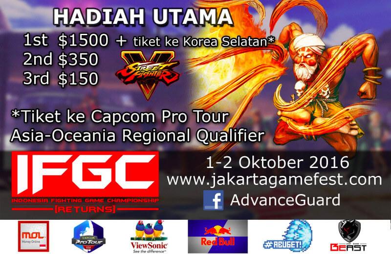 Jakarta Game Fest 2016 | Street Fighter V Competition