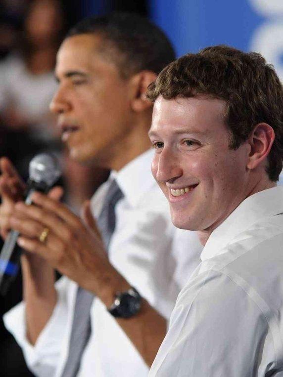 Mark Zuckerberg dan Barack Obama   Image