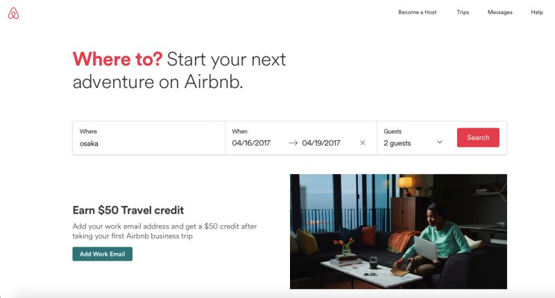 Airbnb | Screenshot