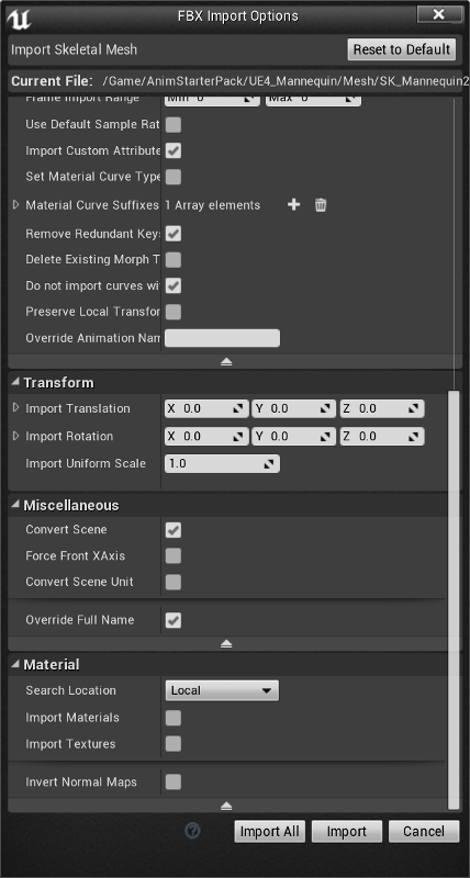 FBX Import Options 2