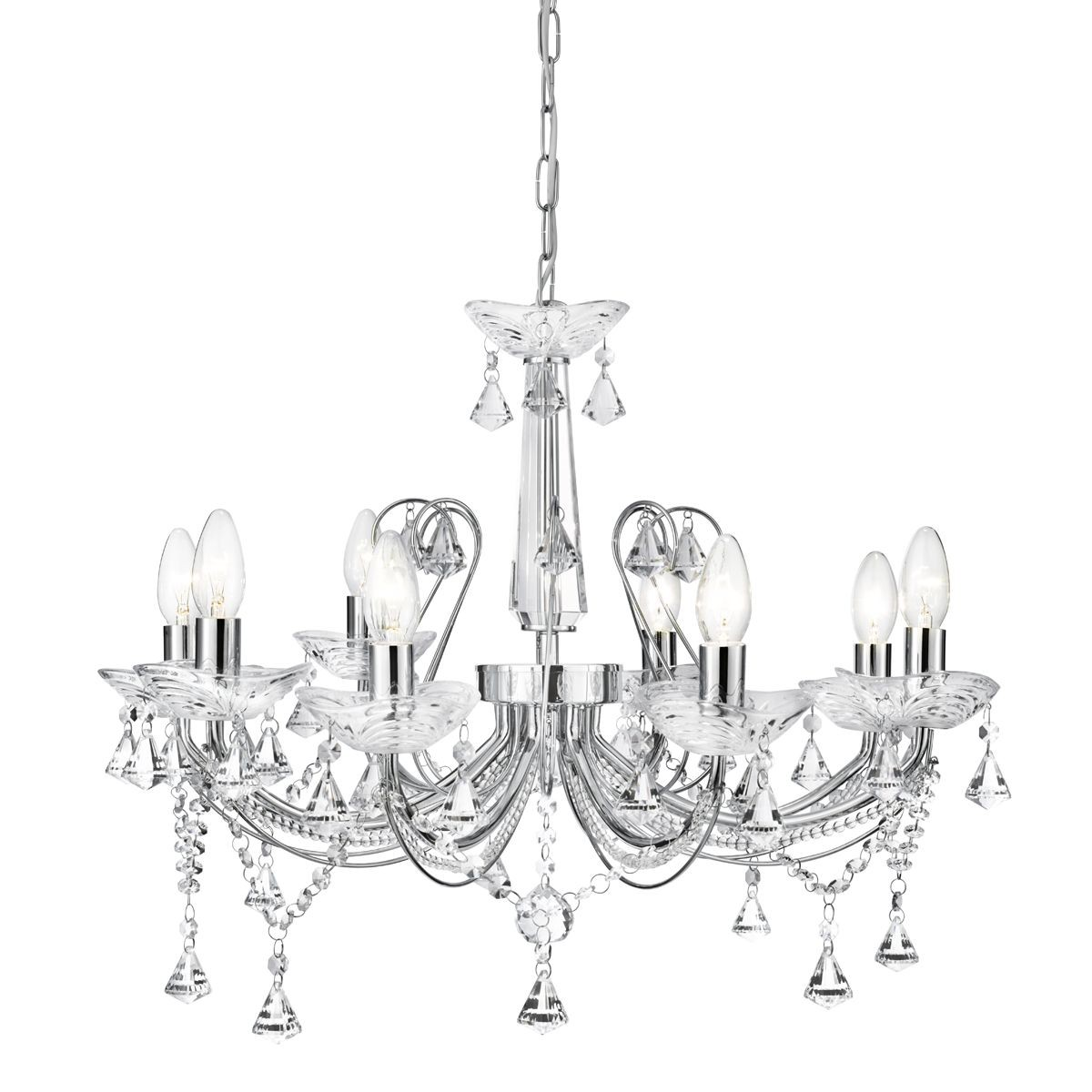 Lafayette 8 Light Crystal Ceiling Light