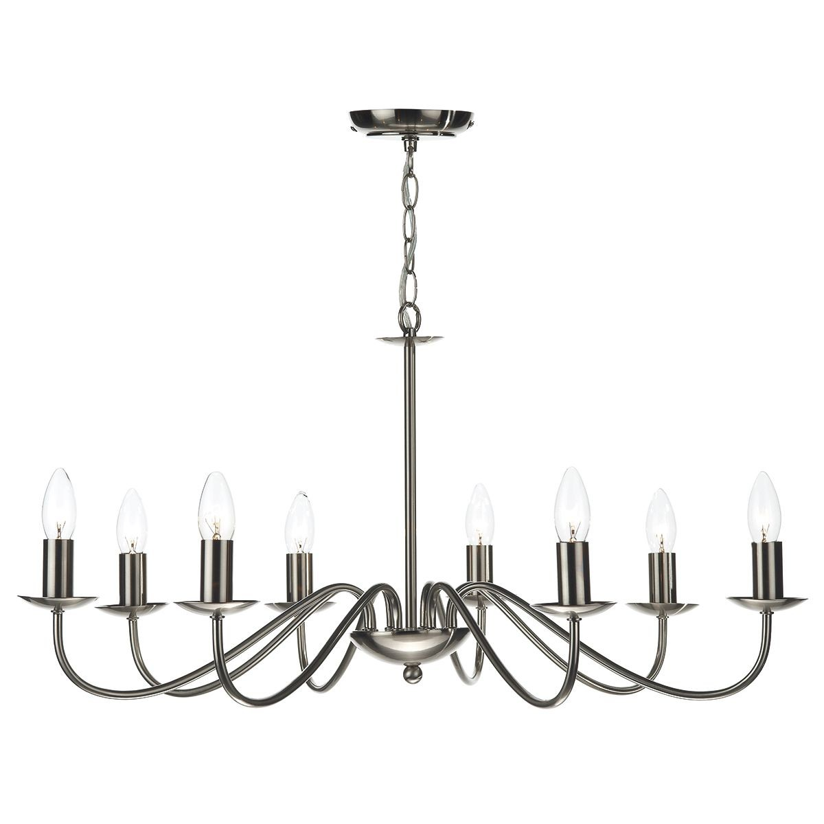 Irwin 8 Light Pendant Dual Mount Satin Chrome