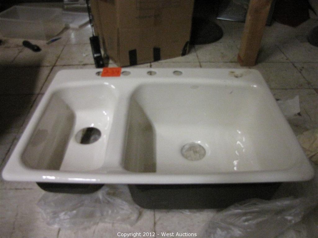 kohler porcelain dual bowl kitchen sink