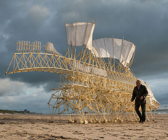 Strandbeests Giant Wind Powered Centipede Like Robots To