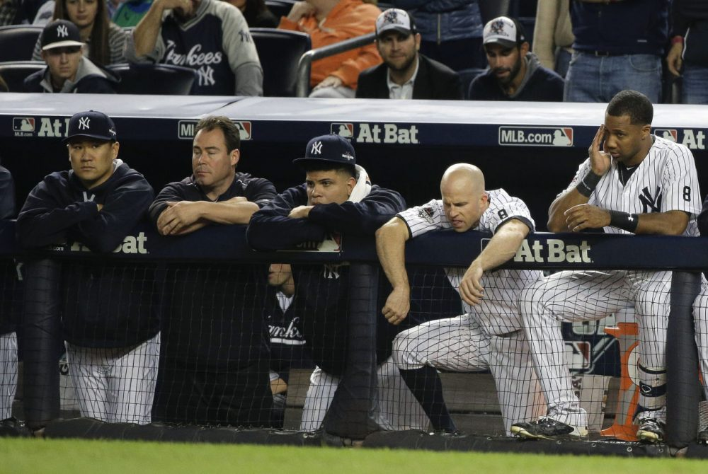Image result for brett gardner yankees vs houston astros in wildcard game
