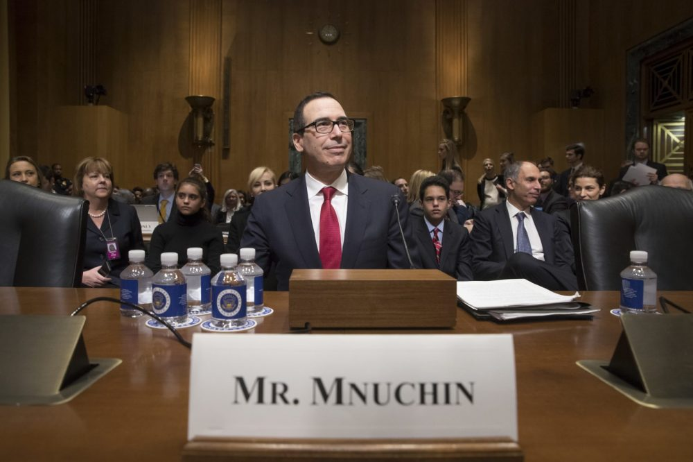 Image result for PHOTOS OF MNUCHIN