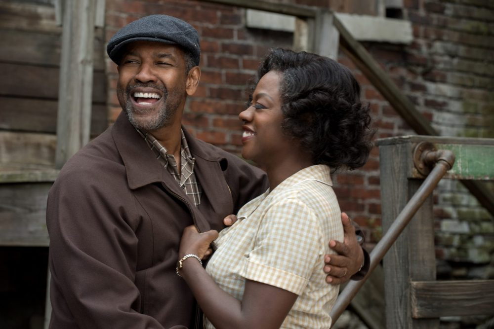 "Denzel Washington and Viola Davis in ""Fences."" (Courtesy Paramount Pictures)"