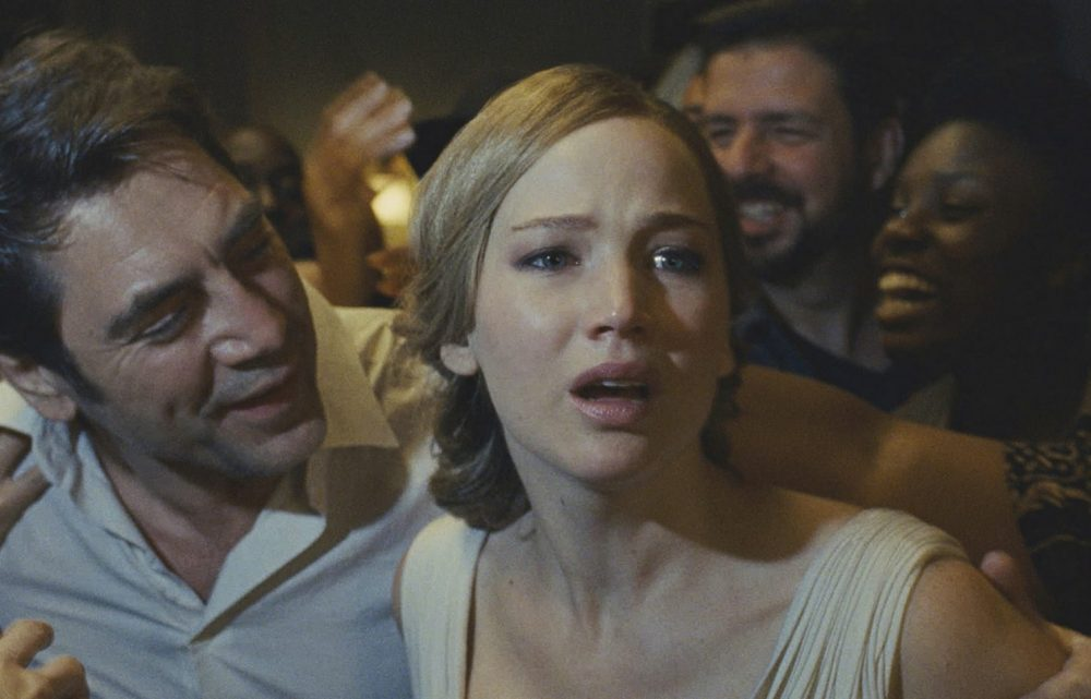 "Javier Bardem and Jennifer Lawrence in a scene from ""mother!"" (Courtesy Paramount Pictures via AP)"