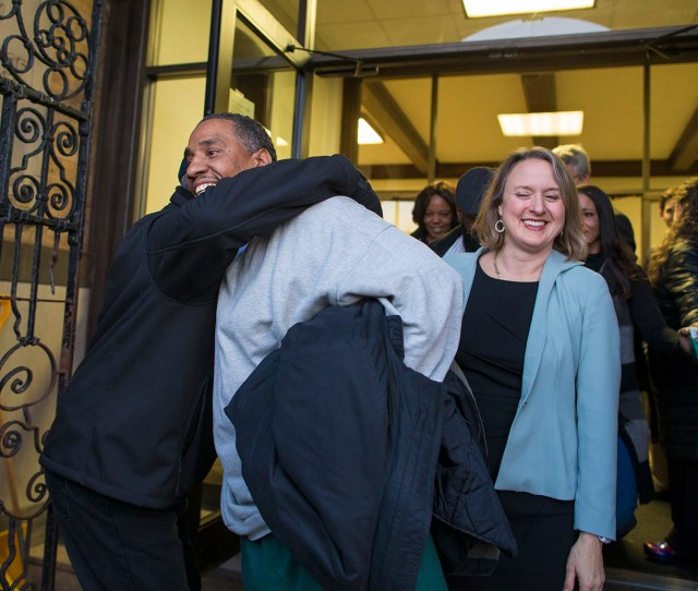 Darrell Jones Walks Out Of The Brockton Superior Courthouse With His Attorney Lisa Kavanaugh After He