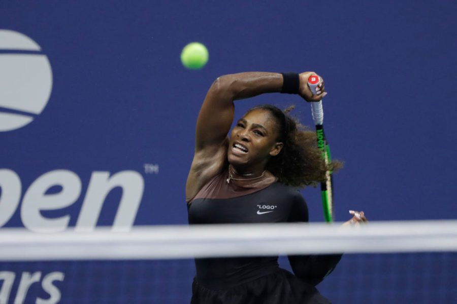 Serena Williams And The Inherent Politics Of Tennis   On Point Serena Williams  of the United States  returns a shot to Magda Linette  of