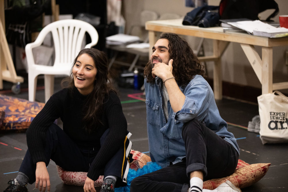 Parisa Shahmir and Sharif Afifi in rehearsal for
