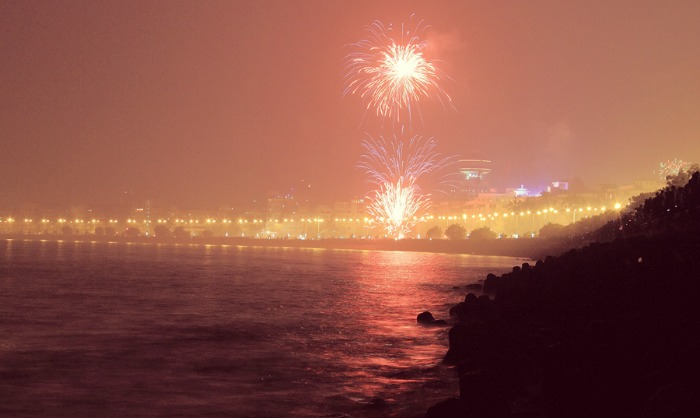 New Year at Mumbai Marine Drive