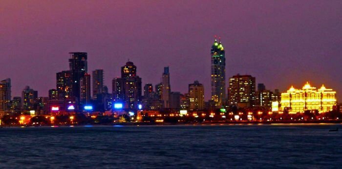 Skyline of the city of dream at Night - Mumbai top 10 most beautiful cities in india just info check