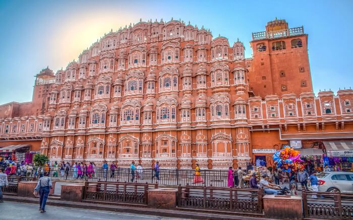 The Hawa Mahal only has ramps to reach the upper floors