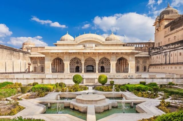 Picture of a palace in Amer Fort of Jaipur