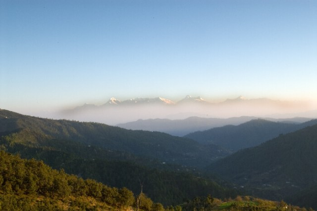 snowcovered mountains of Mukteshwar