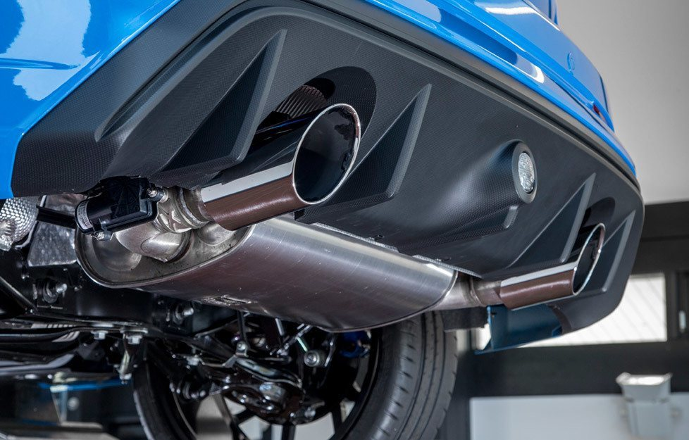 exhaust system 2016 ford focus rs