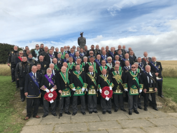 Assembled Brethren at the Black Watch Memorial