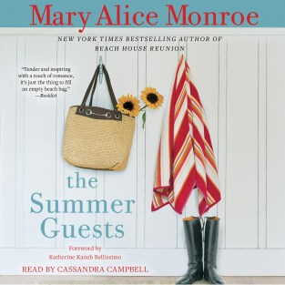 Cover fro the audio edition of THE SUMMER GUESTS