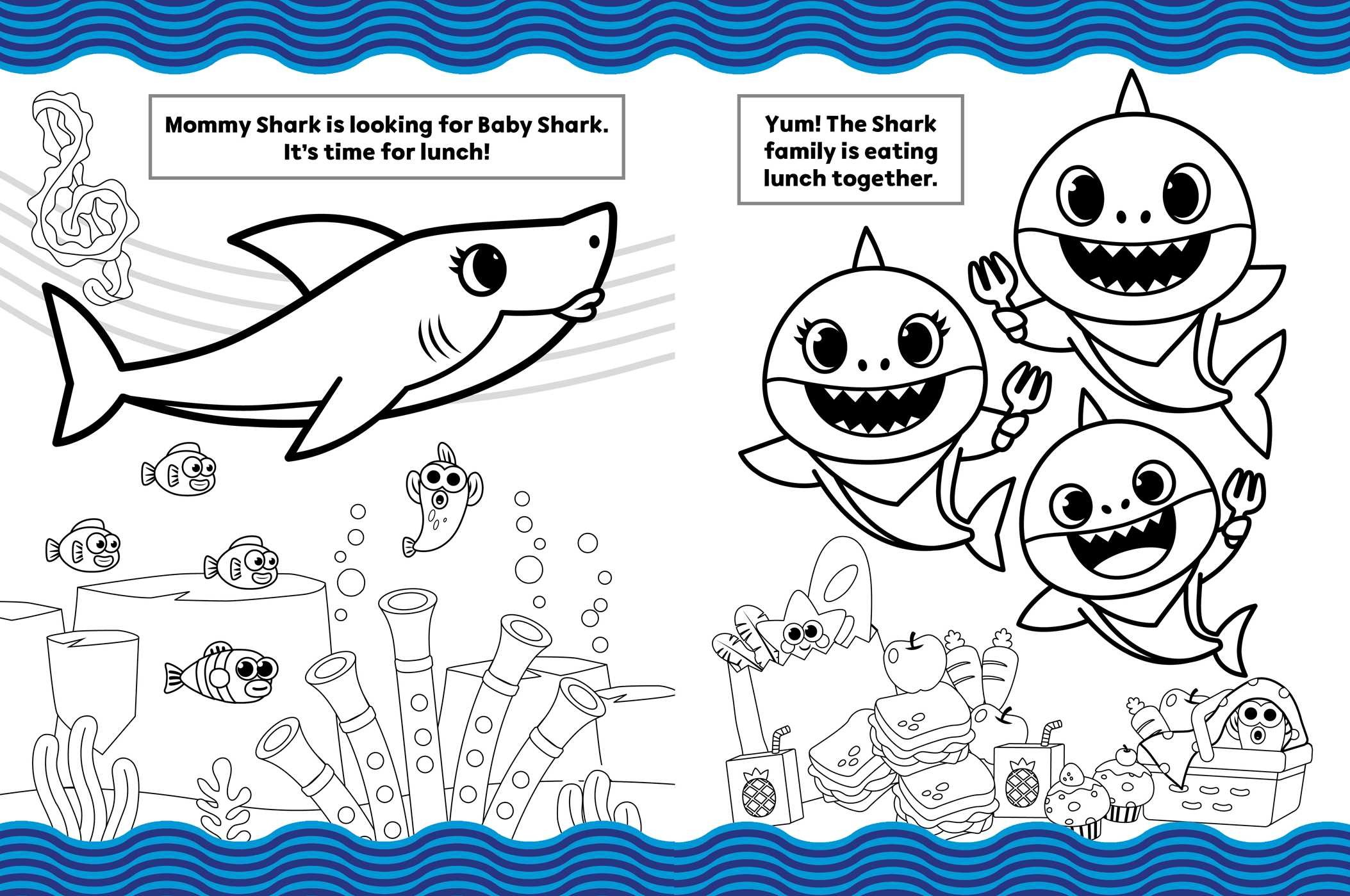 Pinkfong Baby Shark Coloring Pages Printable