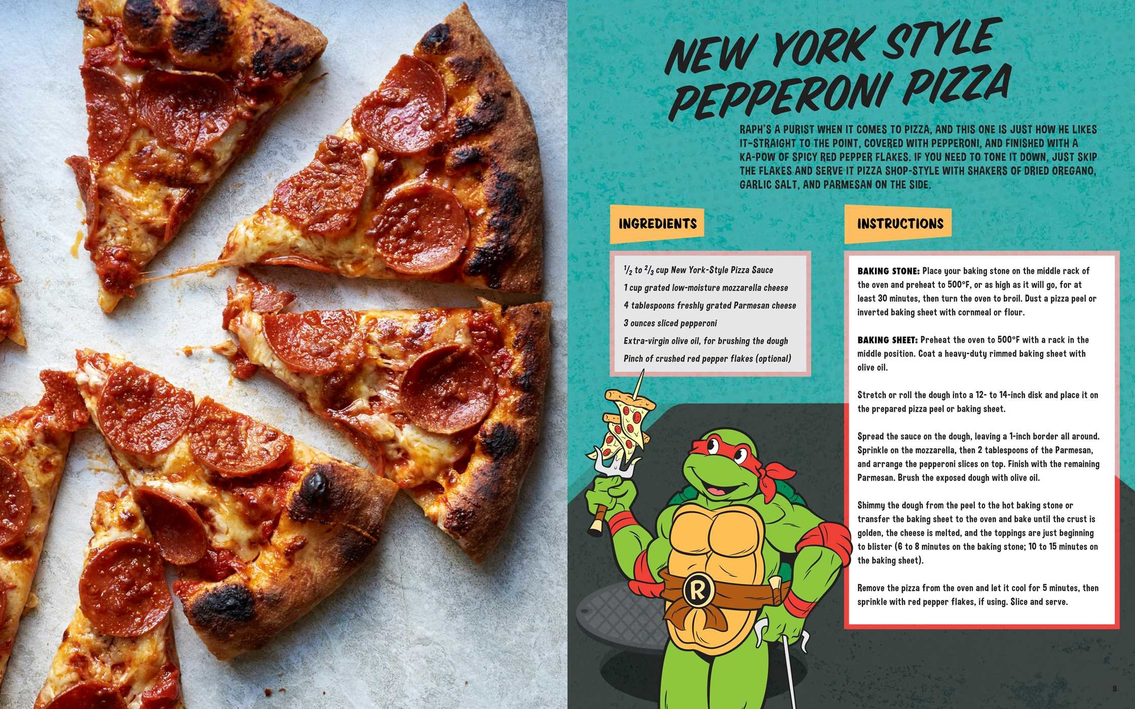 Image result for The Teenage Mutant Ninja Turtles Pizza Cookbook