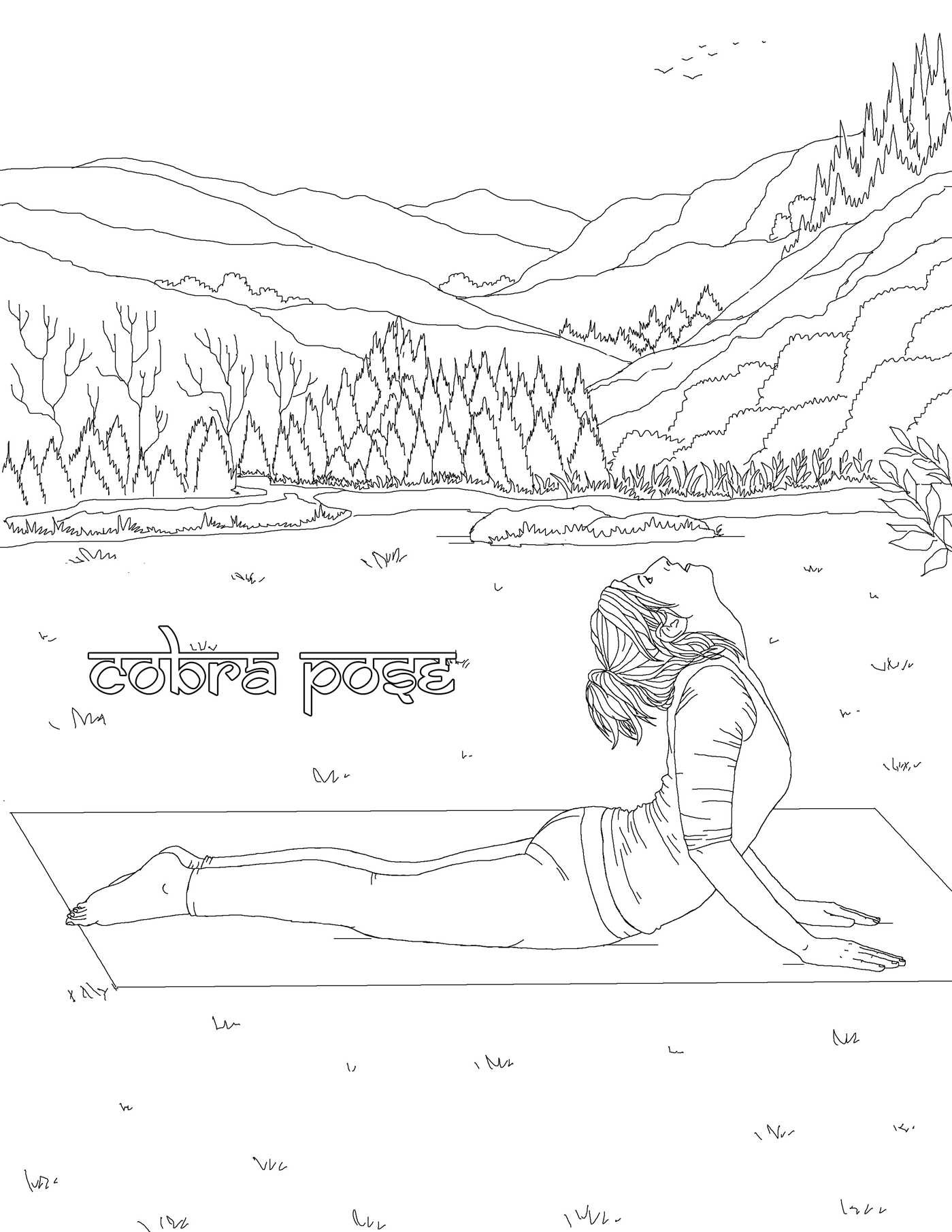 The Yoga Poses Adult Coloring Book