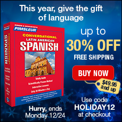 Christmas Holiday Deals -Pimsleur Holiday Sale