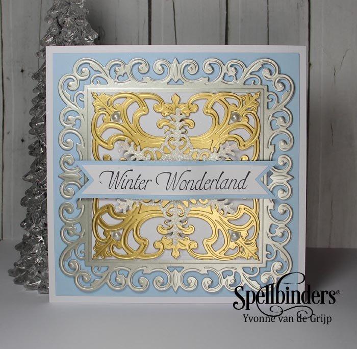 Winter Wonderland Fleur De Square Card Tutorial Spellbinders
