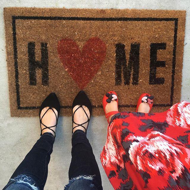 Home With Heart Typography Doormat 16x26 Room