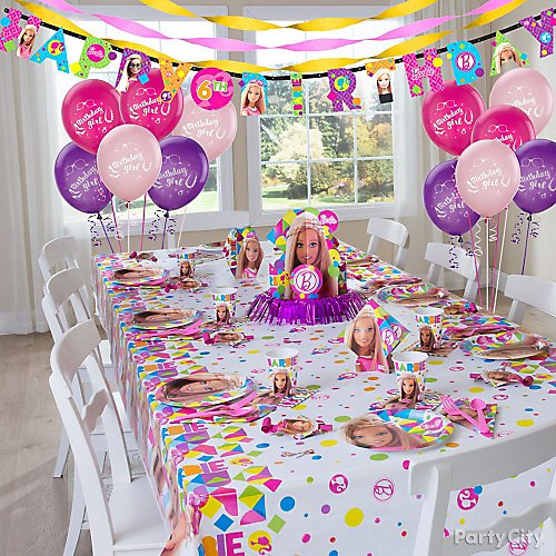 barbie party supplies party city