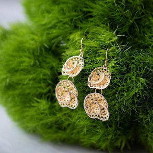 Artisan Collection  Artisan Jewelry and More   JTV com  jtv s image of 18k Yellow Gold Over Sterling Silver Dangle Earrings