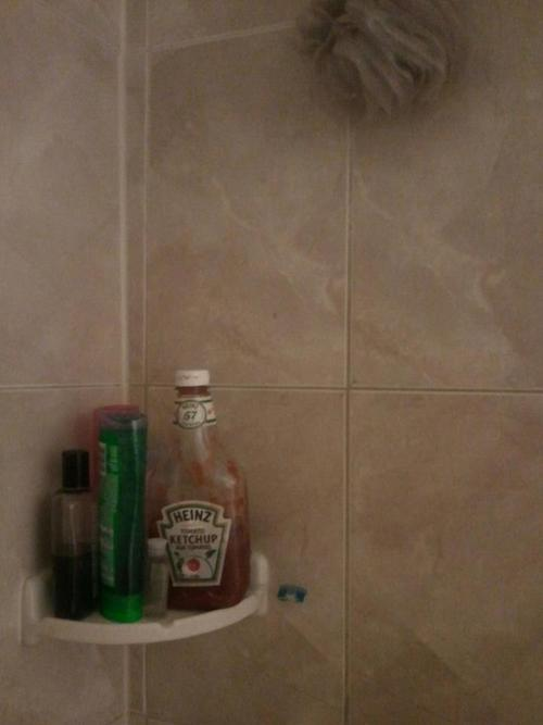 Ketchup Shampoo In The Shower Prank Funny Faxo
