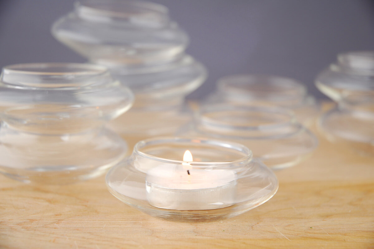 Floating Glass Tealight Candle Holders 12 Pcs