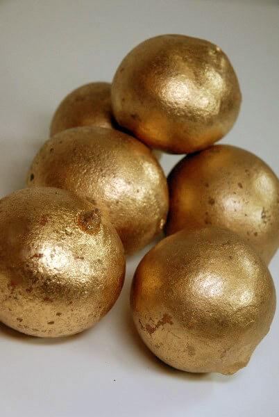6 Metallic Gold Belani Balls