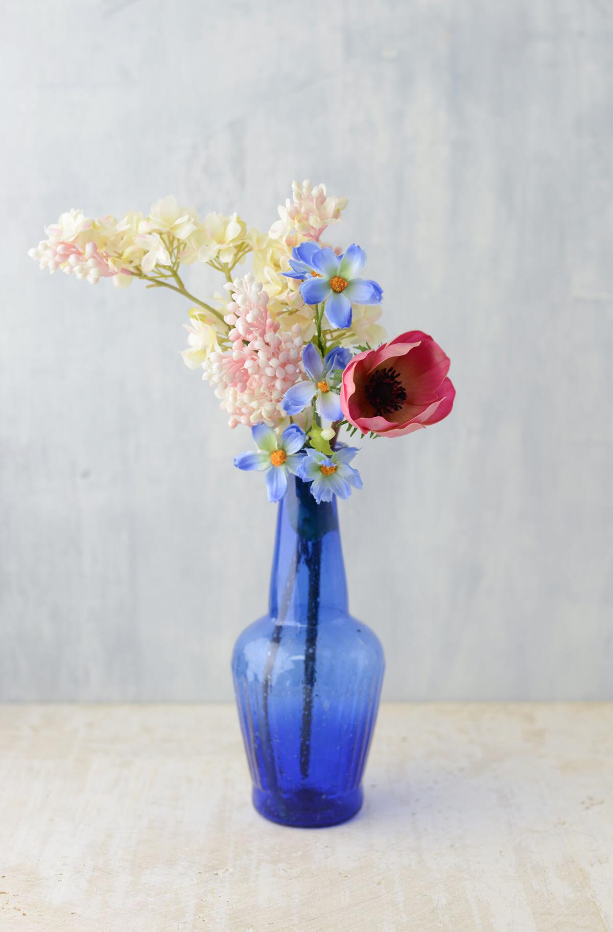 Cobalt Blue Glass Vase 7 25