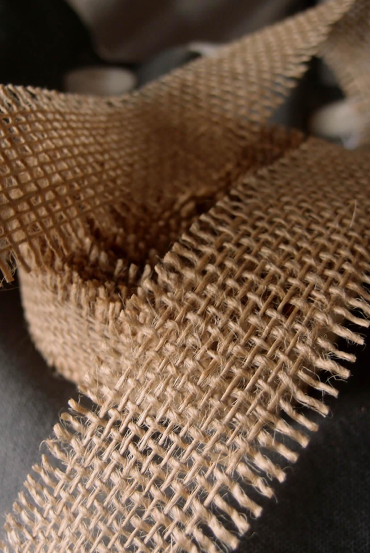 Natural Burlap Ribbon Open Weave 1 1 2 Quot X 10 Yards