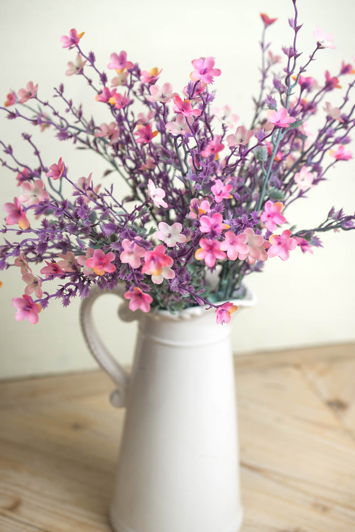 Artificial Star Flower Bush 19in Pink Amp Lavender