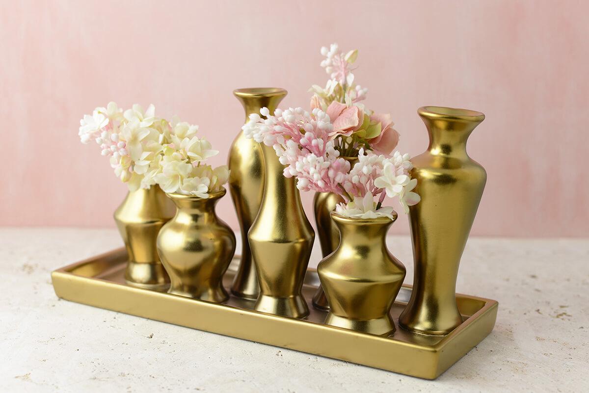 Gold Chic Bud Vase Set