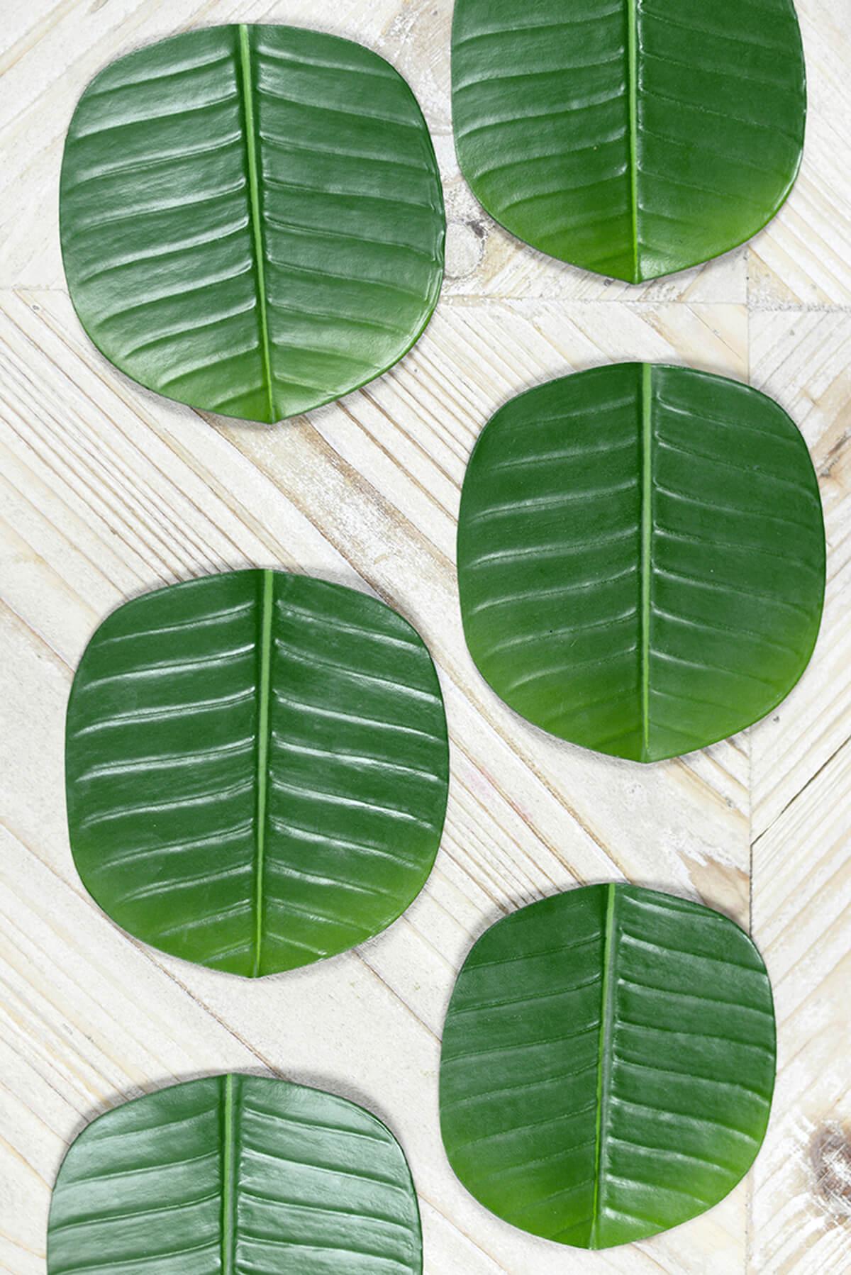 6 Banana Leaf Coasters