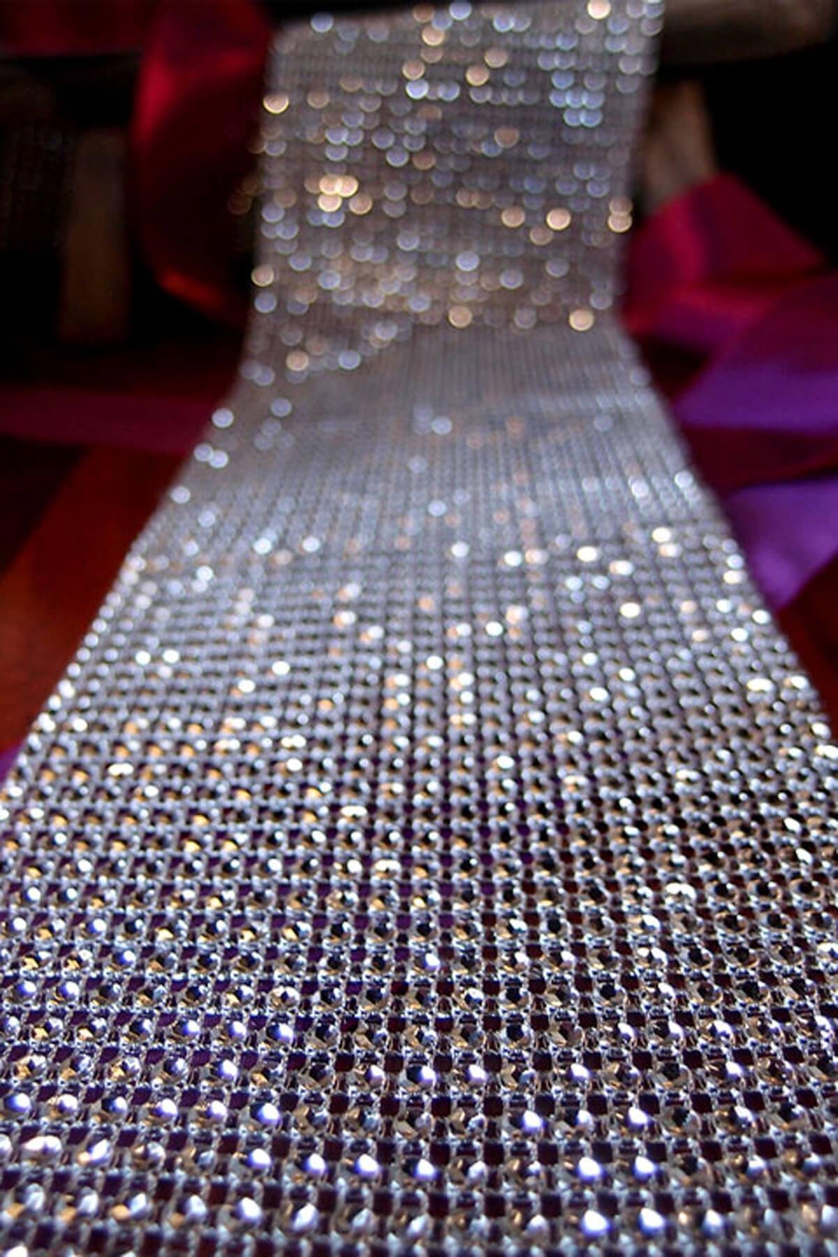 Diamond Mesh Wrap 2x 98ft Silver Setting Simulated